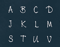 4K Chalk Animated Alphabet