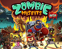 Facebook game UI-Zombie Misfits