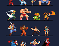 Super Street Fighter II | Pixel Art