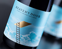 Heaven's Door Surrealistic Wine Label