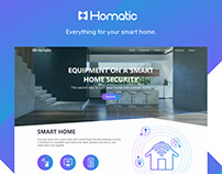 Homatic Smart Home Web Site Consept