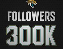 Jaguars Instagram 300k Followers Social Graphic