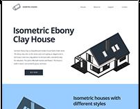 Isometric Ebony Clay House