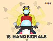 16 Hand Signals For Bikers