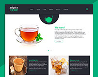 Flat UI Web Page for Tea Shop
