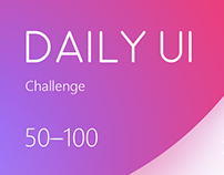Daily UI Challenge (50–100)