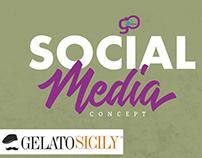 Social media concept Gelato Sicily - Franchising