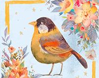 Birds and Flowers Design