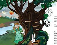 Book Illustration - ALICE IN WONDERLAND