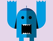 Formas geométricas: robot.