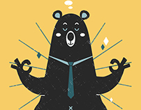 Editorial Illustration: Angus the Bear