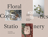 Floral, Cosmetics, Stationery / Mockup Bundle
