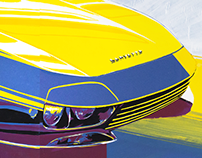 Illustration and redesign of Corvette Rondine
