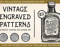 Vintage Engraved Patterns for Illustrator