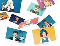 Illustrations | Series of avatars for gyPost webmail