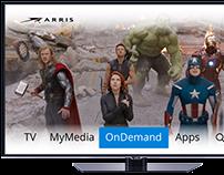 Unity 2.0 Set top box UI Visual Comps
