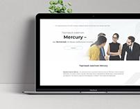 Trading advisor landing page design