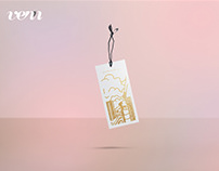 Free Floating Tag Mockup