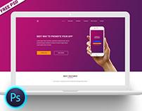 FREE PSD | Money Exchange App Landing Page Design