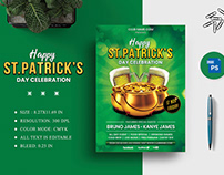 Happy St. Patrick's Day Celebration Flyer Design