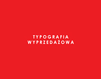 Projekty typografii dla wyprzedaży.