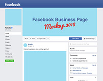 New Free Facebook Business Profile Page Mockup PSD 2018