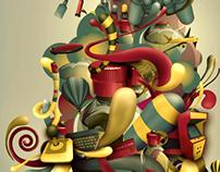 "Hugo Boss   Poster "" Past, Present and Futur"""