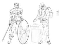 Characters sketch practice