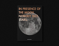 In Presence of The Moon Nobody Sees Stars - Apollo Book