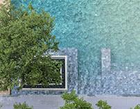 The Parque Condominium Courtyard by Tectonix Landscape