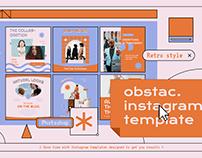 Obstac Instagram Template