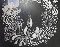 Autumn Moonshine - Painting (Mixed Media)