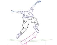 Caballerial Kickflip Animation