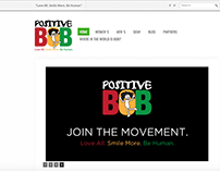 Positive Bob Tees Website Homepage