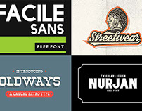 4 New & Free Custom Fonts