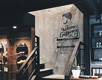 Felipe & Sons Barberdashery Mural