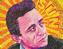 Johnny Cash - Created Entirely of Recycled Material