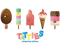 Temporary Tattoo Character Illustrations