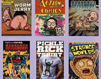 Various Rick and Morty Illustrations