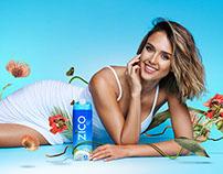 Zico Coconut Water campaign featuring Jessica Alba
