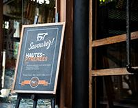 Affiche restaurant HaPy Saveurs