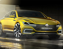 Volkswagen Sport Coupe GTE Concept // Press Renderings