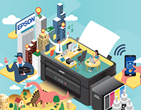 EPSON Advertorial for Giraffe Magazine.