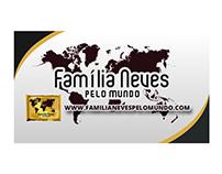 Cartão de visita Família Neves pelo mundo