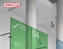 Free Office Glass Mockup