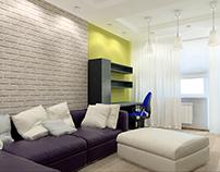 Интерьер двухкомнатной квартире в г. Сходня
