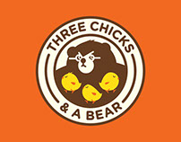 Identity Design for Three Chicks and a Bear