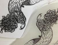 Paper Cut Work : Fuk Snake