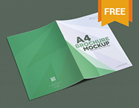 Free A4 Size Brochure Mockups