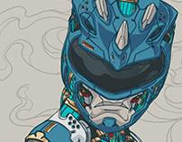 MECHASOUL BLUE RANGER FINE ART PRINT